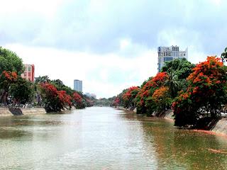 Fleuve Bach Dang à Haiphong au Vietnam