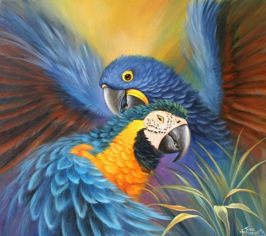 Cuadros modernos pinturas y dibujos cuadros de p jaros for Pintura ligera de color topo