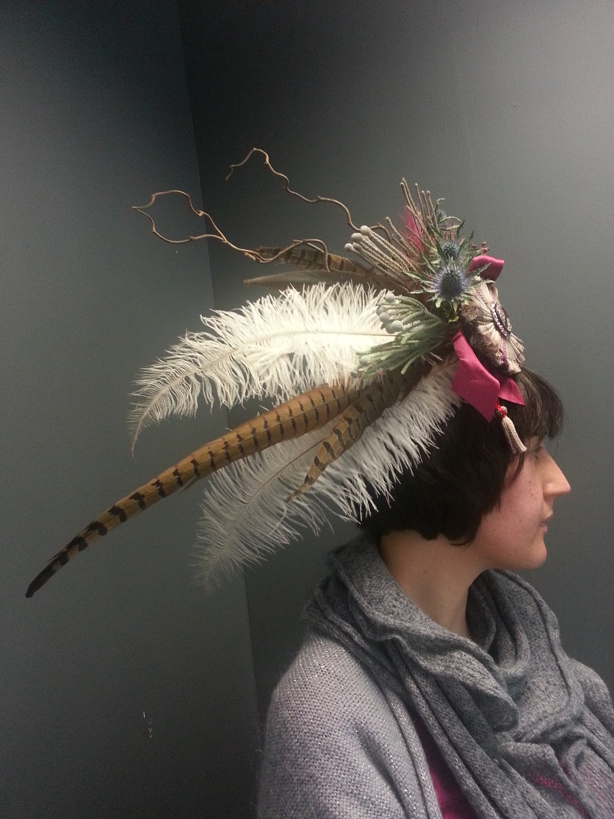 Highland Head Dress worn by Katie