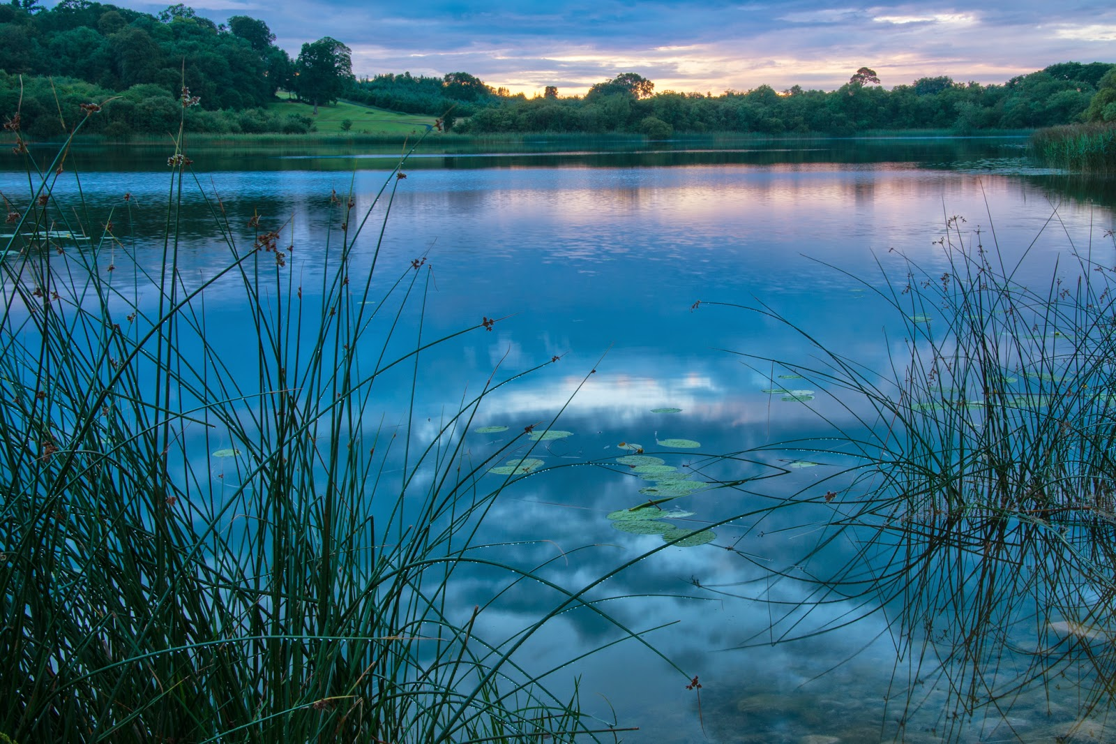 Sunset at Dromoland Lough