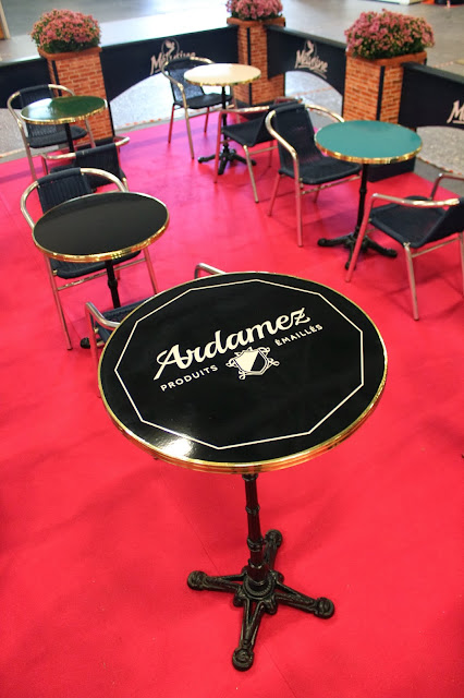 Table haute de bar émaillée Ardamez