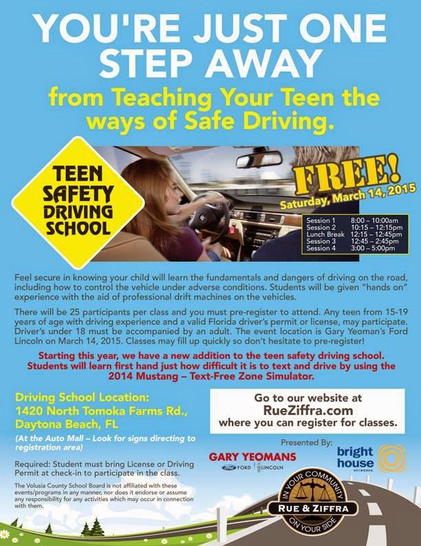 Free Teen Driving Class 102