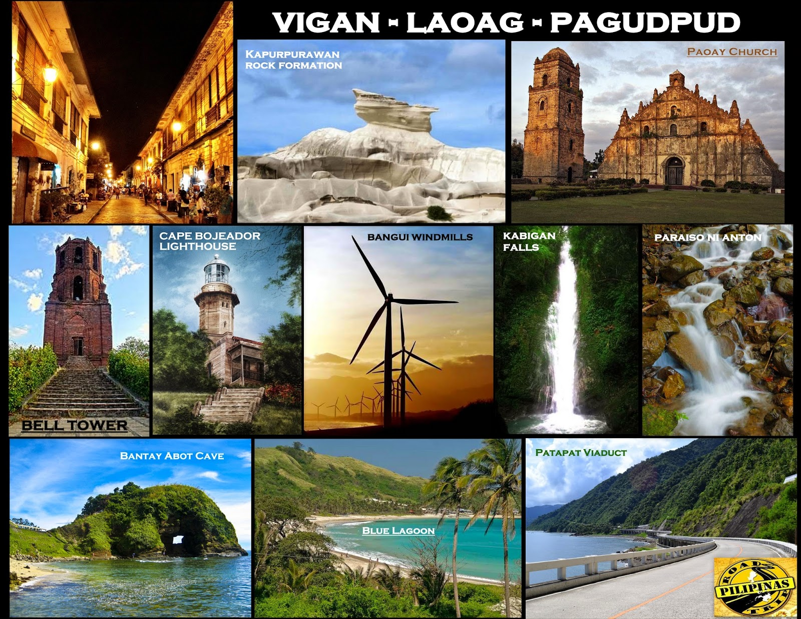 ilocos tour Ilocos is a place that you should add on your vacation list it is located by the north tip of luzon it has everything from ancestral spanish houses and churches, gorgeous waterfalls, lush.