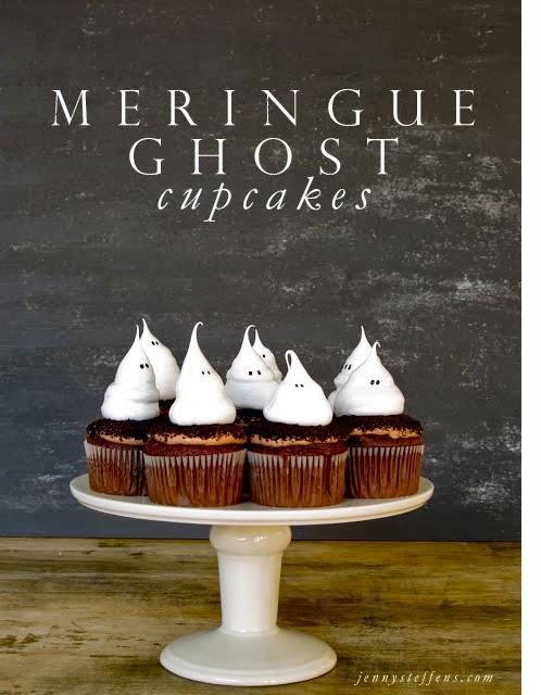 Ghost Meringue Cupcakes