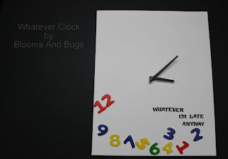 Whatever clock by Blooms And Bugs