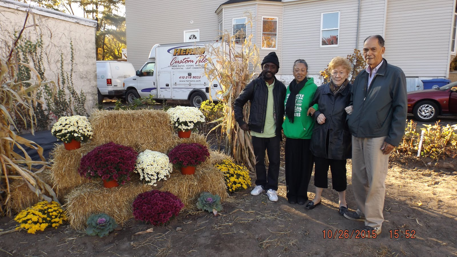 Fall Harvest Festival October 2015 - Winston Evans, Crystal Brown, Fran Whelan, Arnold Brown