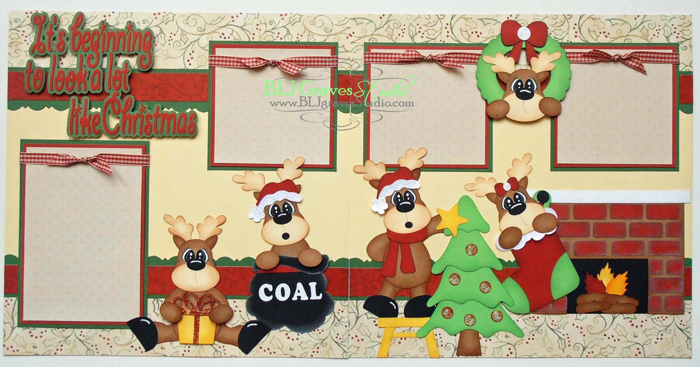 Blj graves studio christmas scrapbook layout for Christmas layout ideas