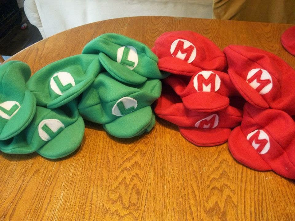 A guide to having the perfect mario themed birthday party diy kids will love getting to wear these comfy mario and luigi party hats the only problem is your parties will never get away with having ordinary cone hats filmwisefo