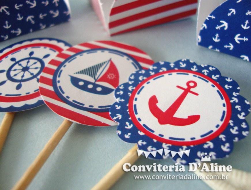 Blog conviteria daline festa tema nutico festa infantil marinheiro toppers para doces thecheapjerseys Gallery