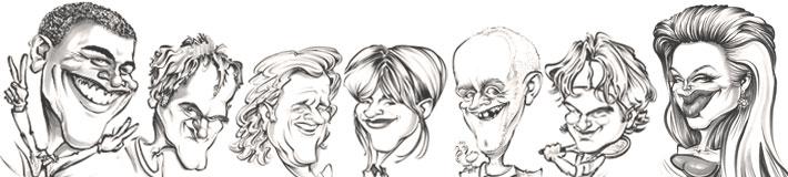 Karikaturist und Schnellzeichner David