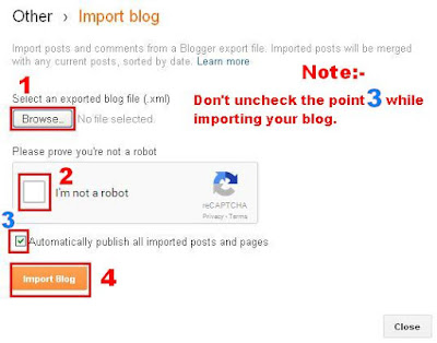 How to import a blog - BloggingFunda