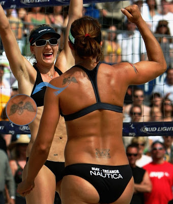 misty may treanor tattoo 2 Misty May Treanor Lower Back and Shoulder Tattoos
