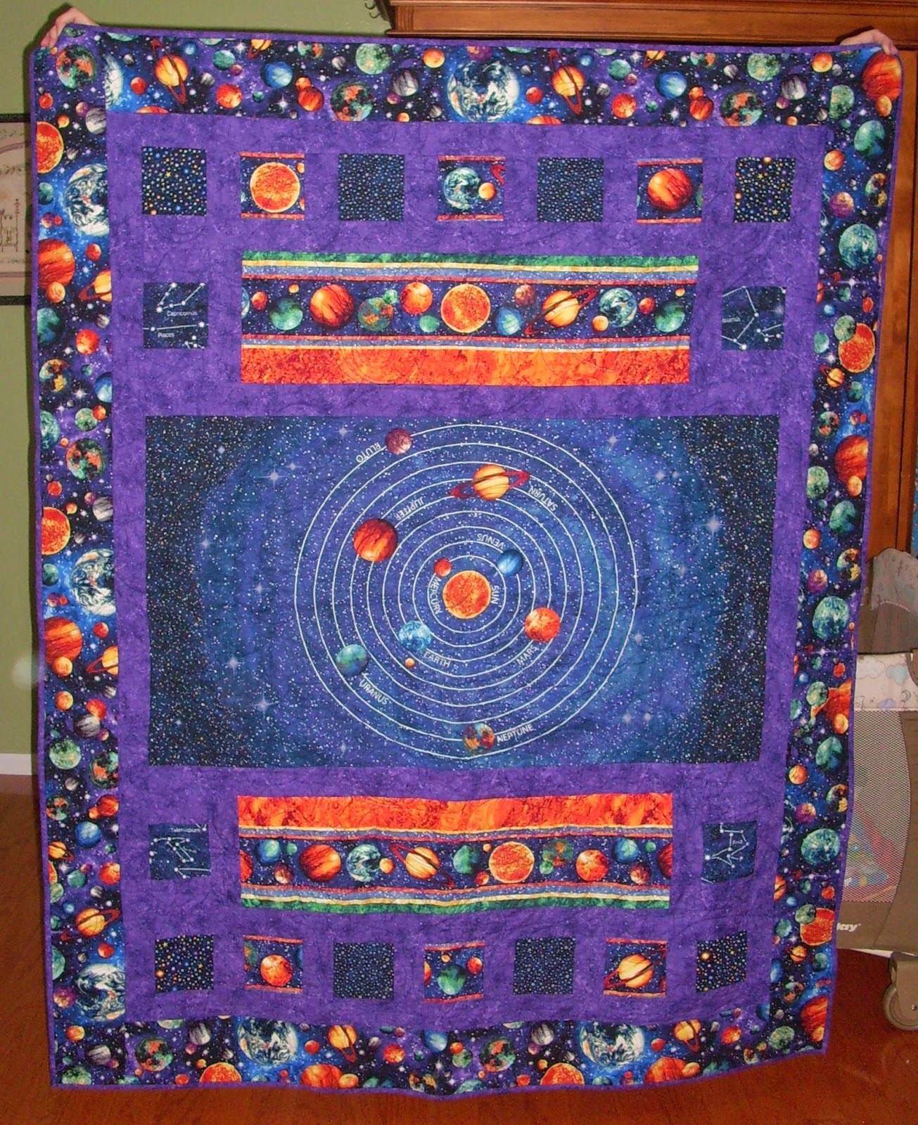 A month of sundays april 2014 for Solar system fabric panel