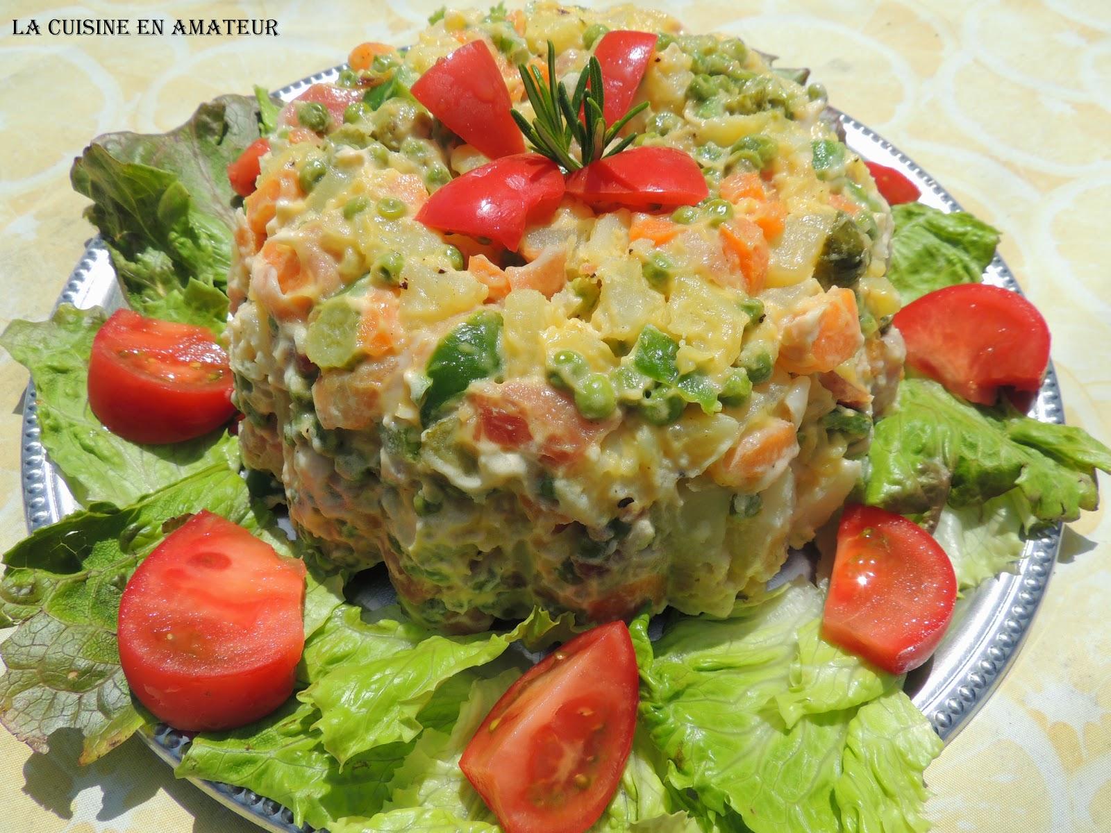 La cuisine en amateur de maryline salade russe - Cuisine traditionnelle russe ...