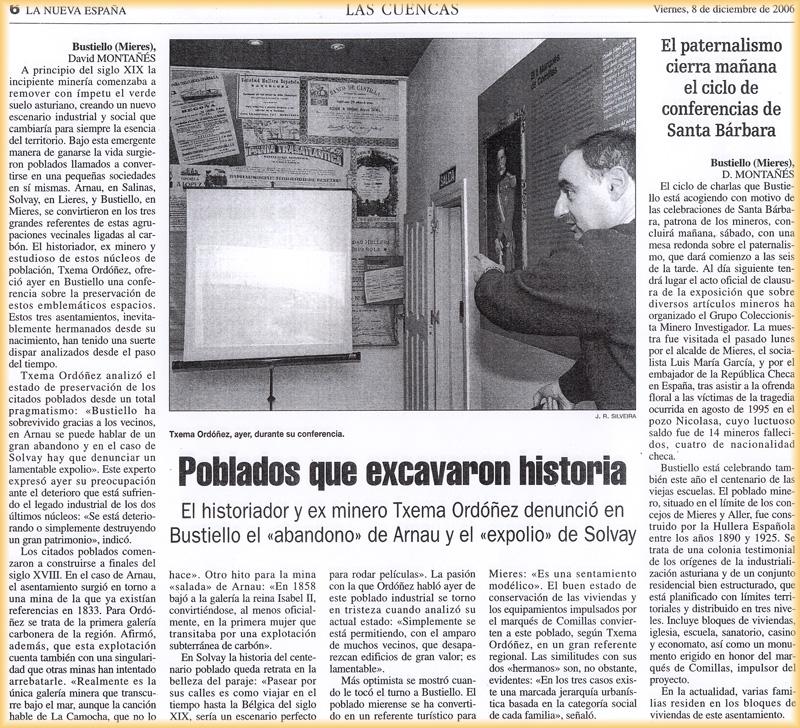 Charla de Txema Ordóñez sobre el paternalismo en Bustiello
