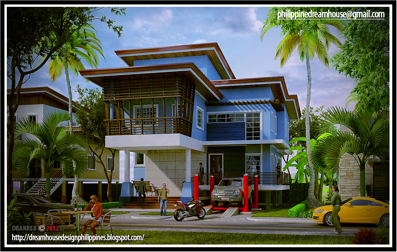 Philippine dream house design design gallery for Tropical elevated house designs
