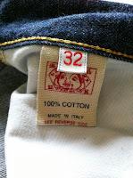 evisu jeans selvedge (kepala kain) size32