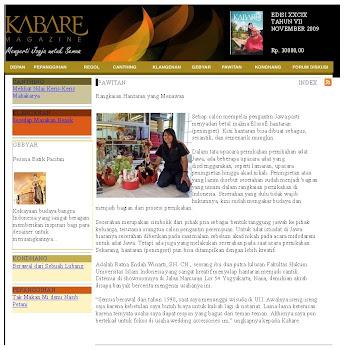 MAJALAH KABARE EDISI XXCIX TAHUN VII NOVEMBER 2009
