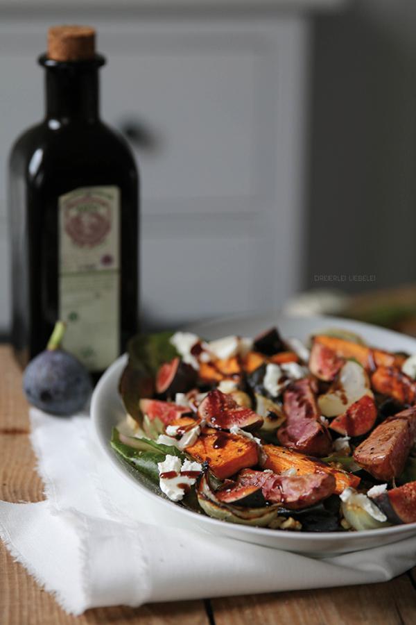 Salat mit Feigen und Ziegenkäse