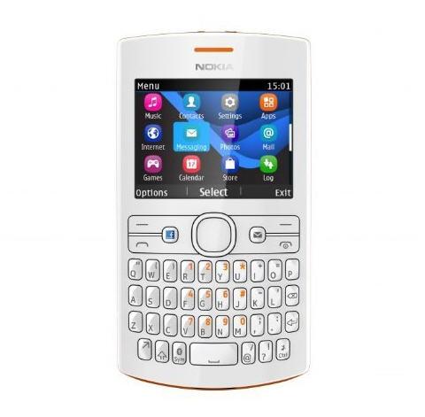 Nokia Asha 205 Warna Putih