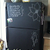 DIY Chalkboard Painting a Fridge
