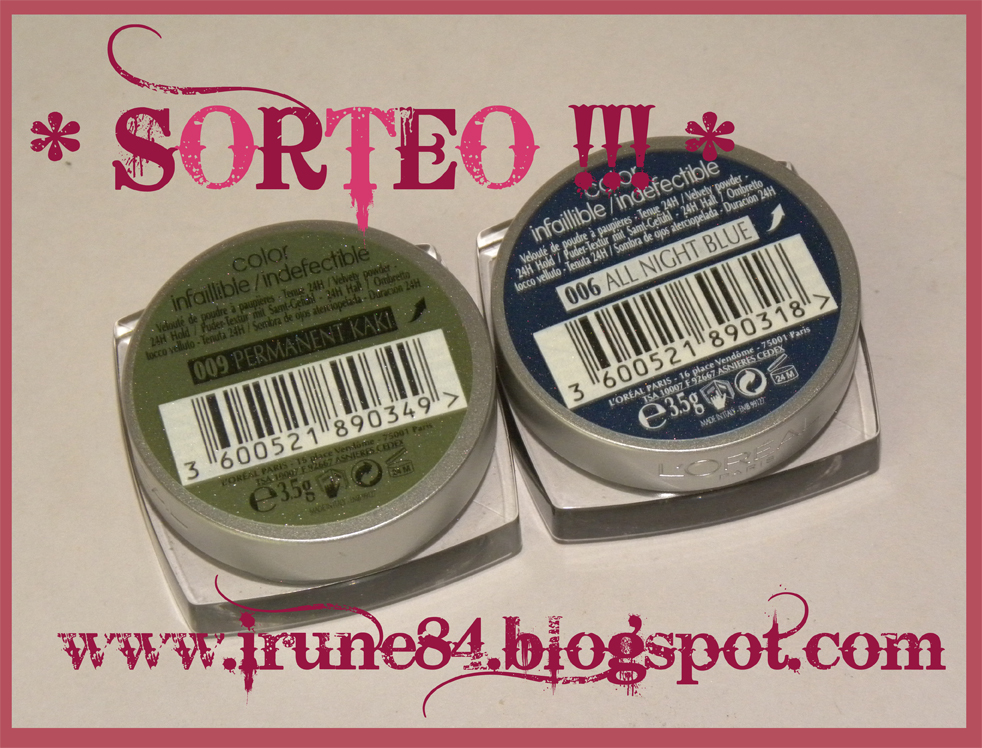 "Sorteo ""Color Infaillible * L'oreal"" de Iru!"