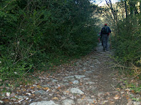 Restes de l'antiga via romana del Roc Gros