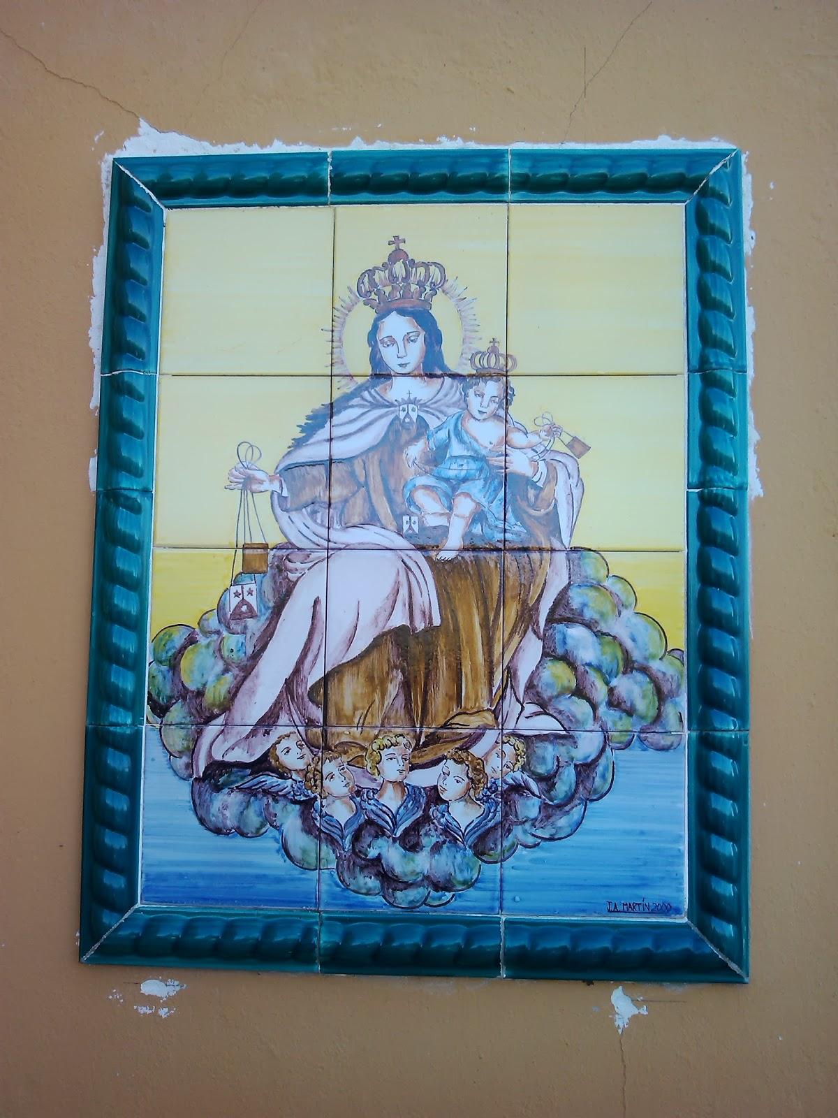 Ceramica art stica jose antonio chaira virgen del carmen - Murales de ceramica artistica ...