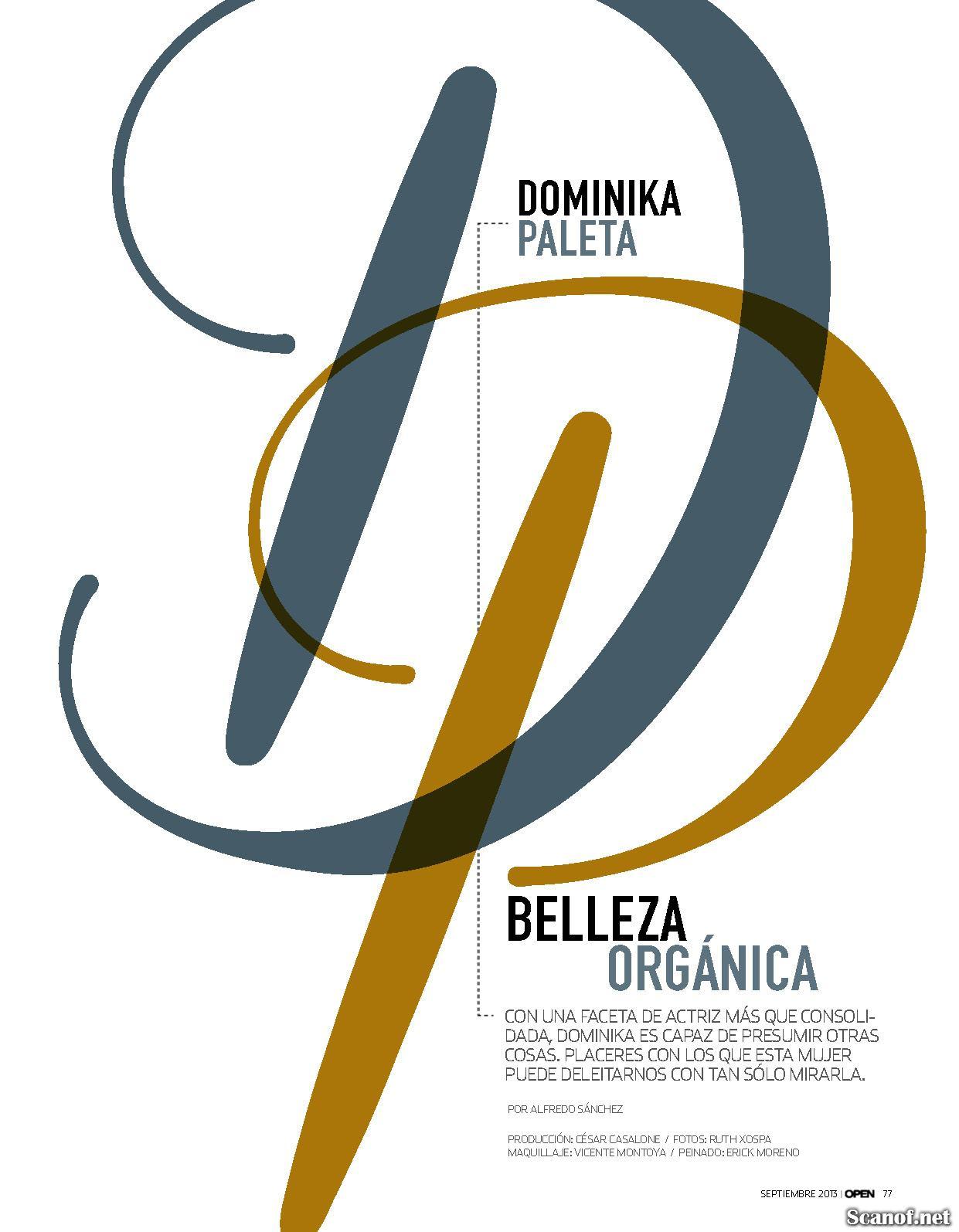 Fotos Dominika Paleta en la Revista Open Septiembre 2013   Mujeres y ...