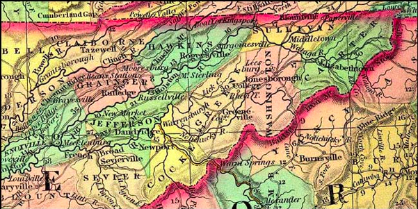 Frequent Traveler Ancestry: Early maps of East Tennessee