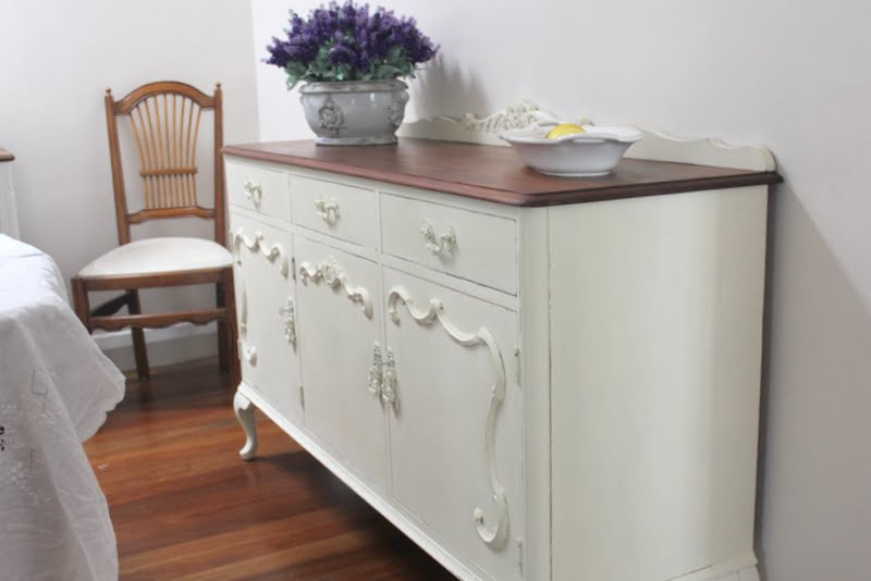 French Provincial Sideboard In Annie on Annie Sloan Painted French Furniture