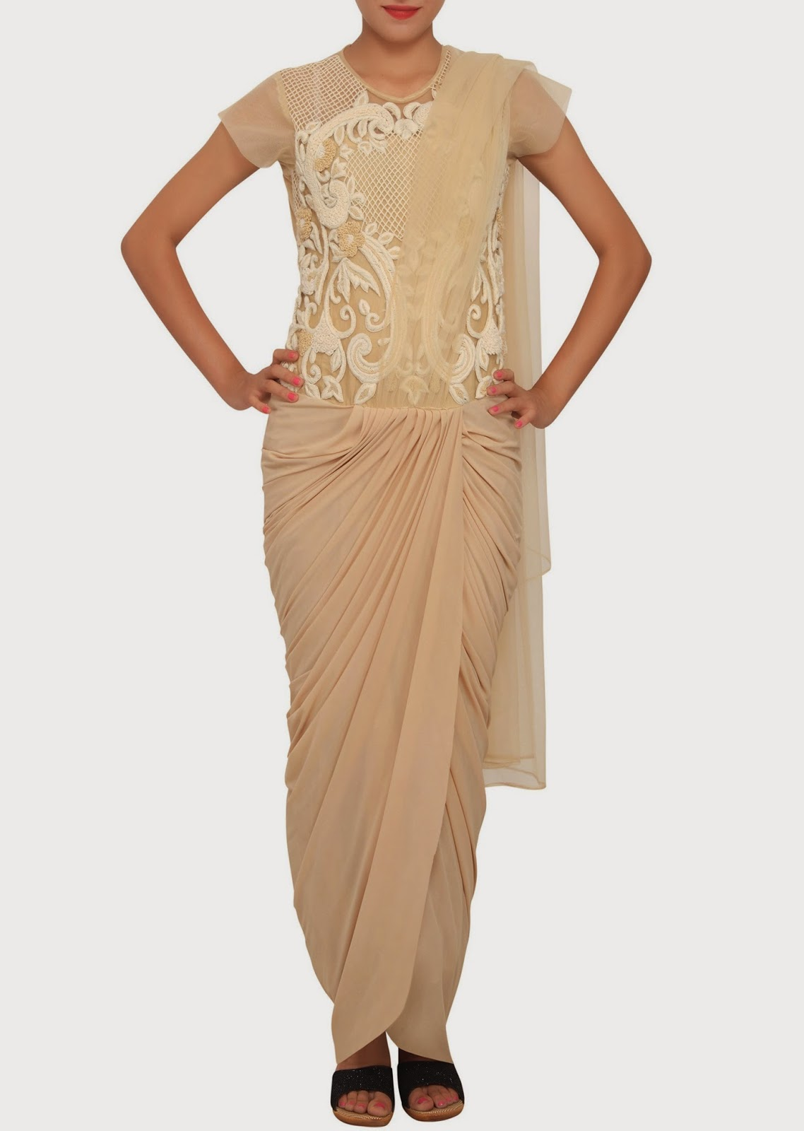 Sweeter global Arab and foreign Maudhae: Kalki Designer Saree Gown