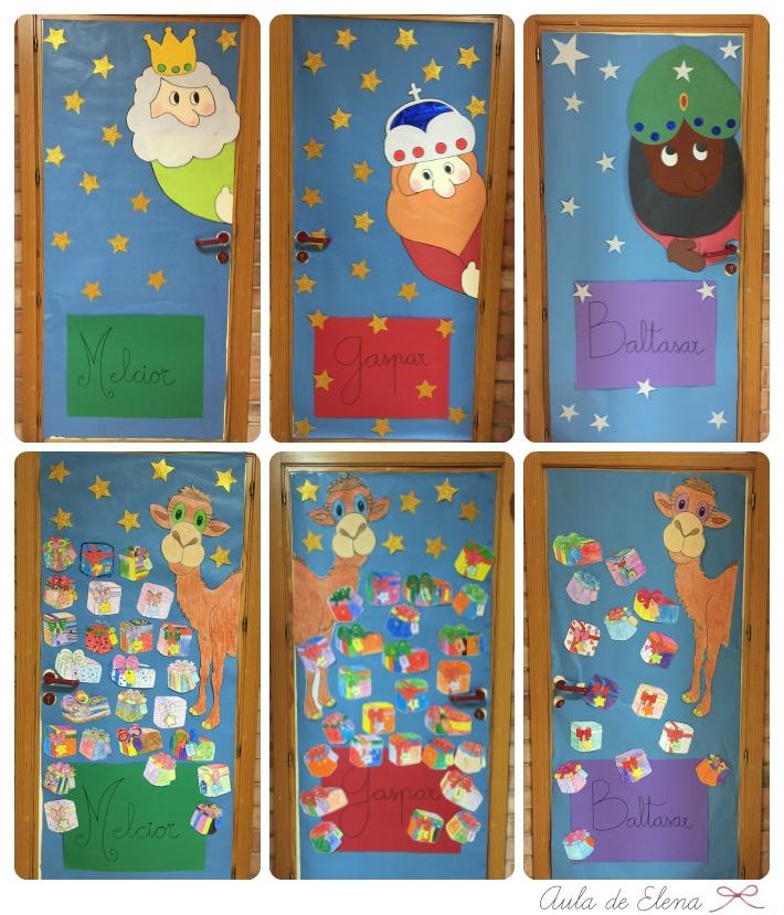 Navidad en el cole aula de elena for Decoracion para puertas
