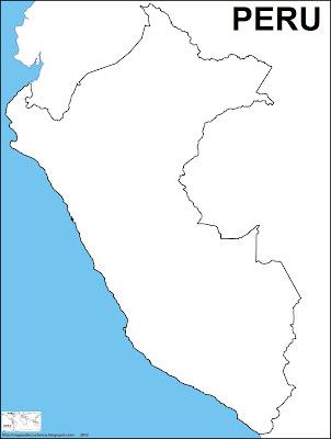 Mapa mudo de PERU