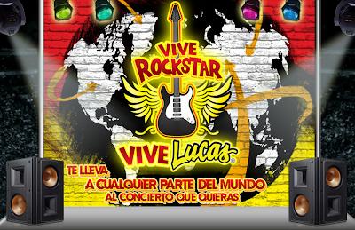 premios un viaje a un concierto a cualquier parte del mundo tarjetas ticket master concurso vive lucas Mexico 2011