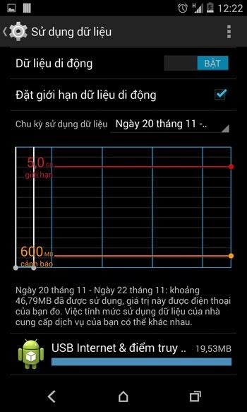 Cách sử dụng 3G tiết kiệm trên Andriod