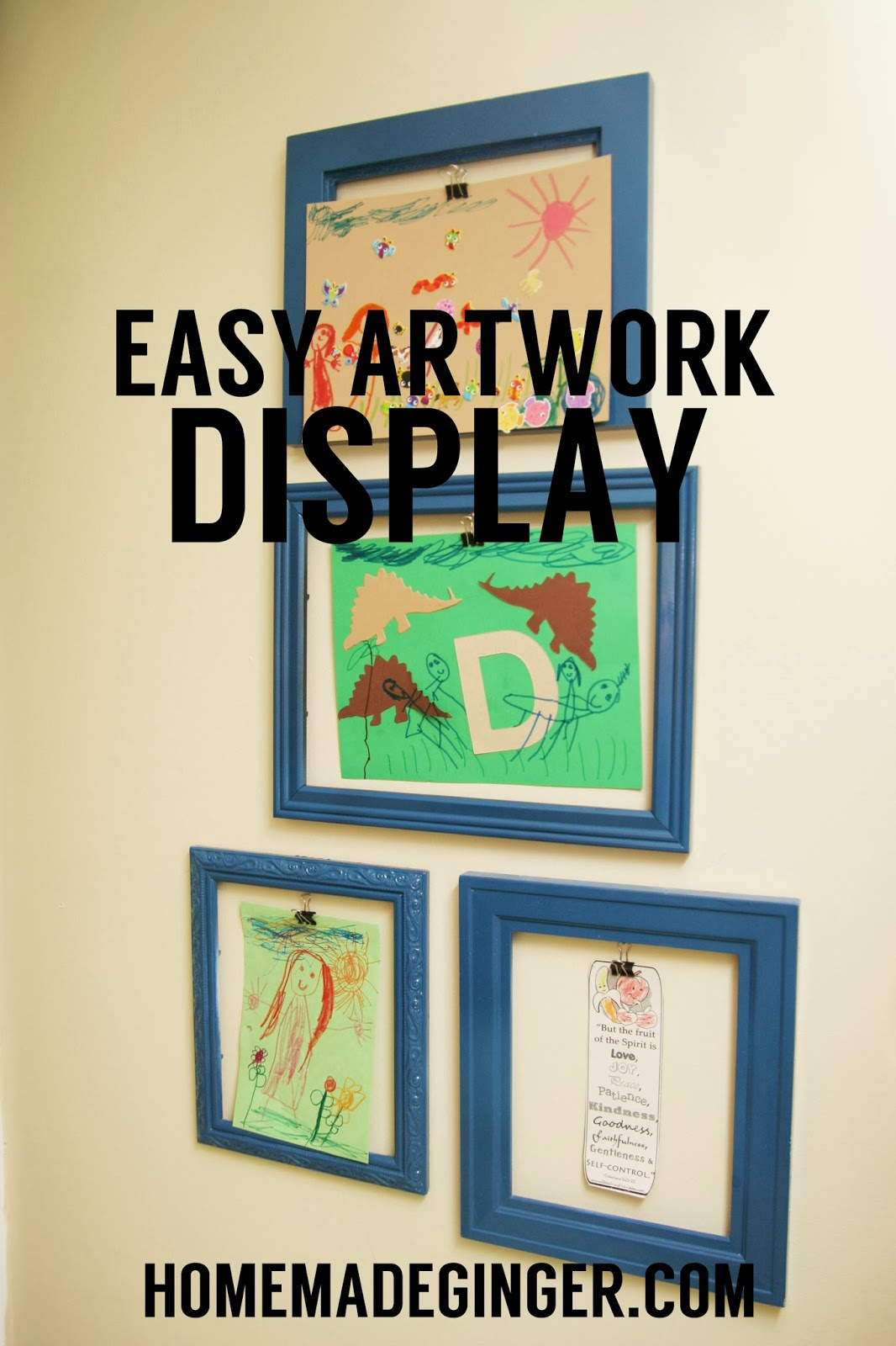 Easy Artwork Display - Homemade Ginger