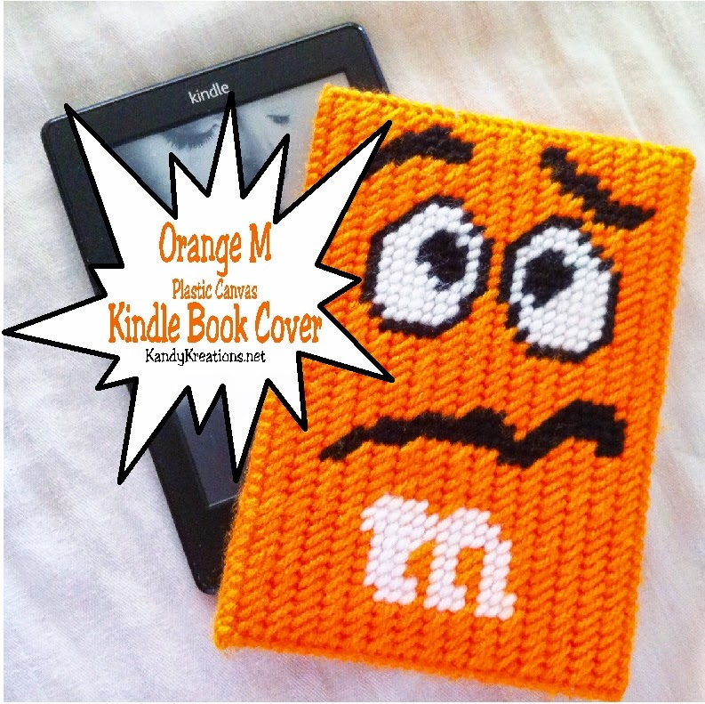 Keep your kindle safe and warm with this simple Kindle book cover based on everyone's favorite Orange character M.  You'll love how fun this looks and how free the pattern is.