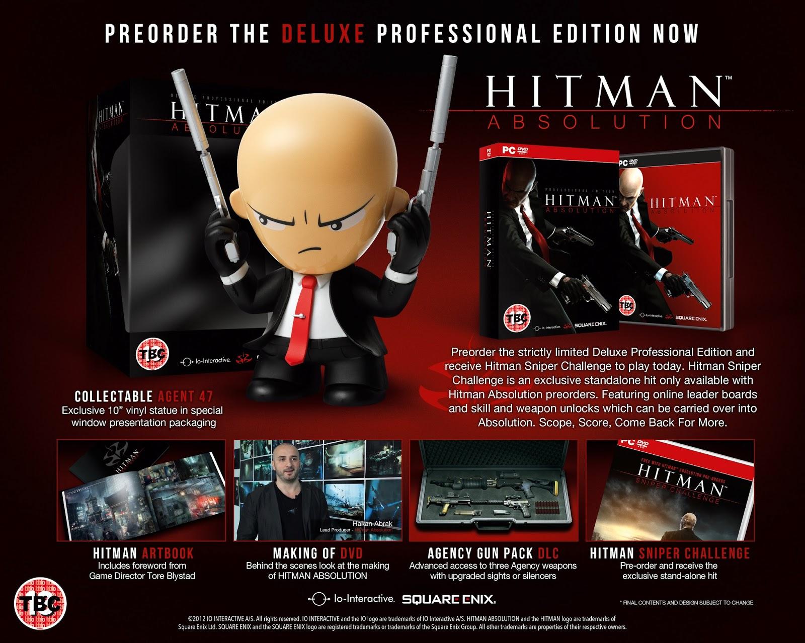 Contenido de la edición The Luxe Professional del juego Hitman Absolution