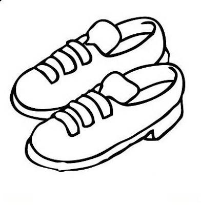 Zapatos Para Colorear. ilustración vectorial para colorear de ...
