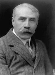 Edward Elgar bought aubergine hair-dye