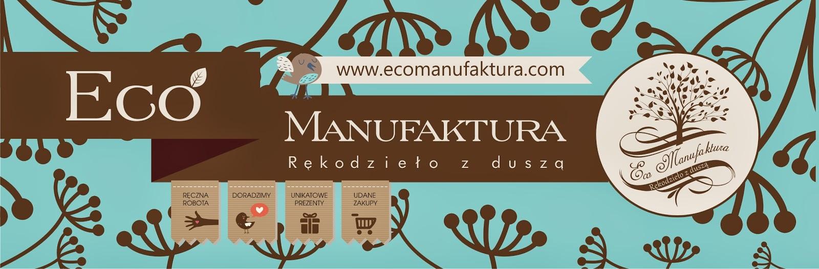 baner Eco Manufaktura - nowa identyfikacja graficzna pracowni rękodzieła i decoupage.