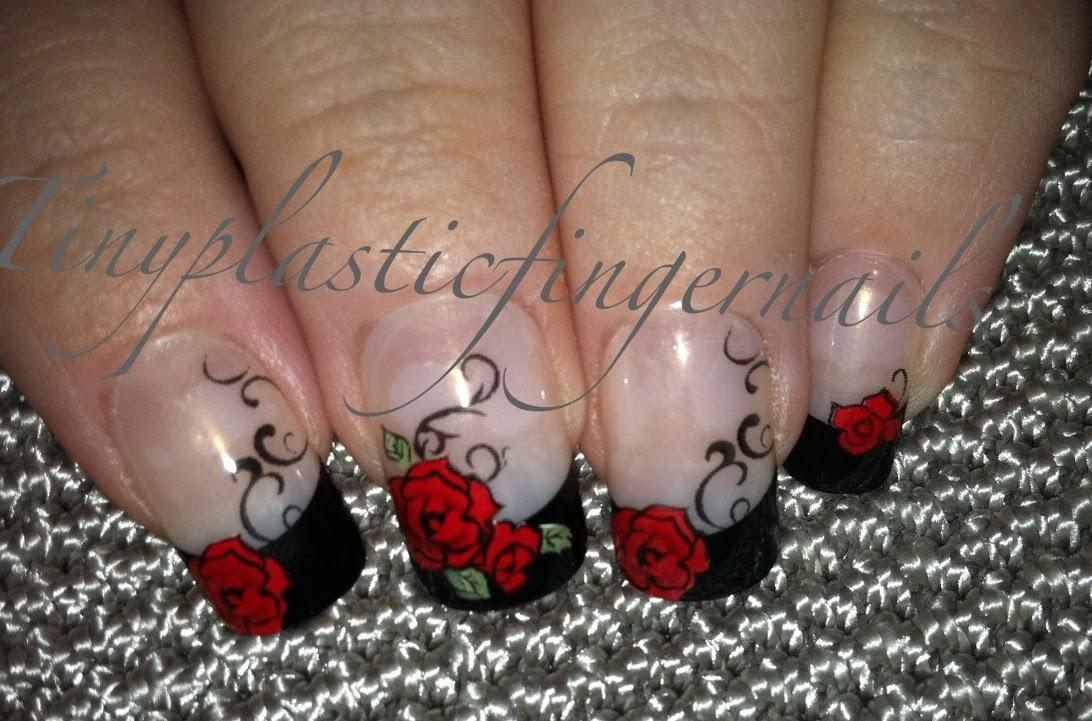 kiss halloween nails firery
