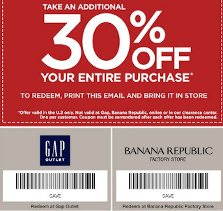 Gap Outlet Printable Coupons November 2013