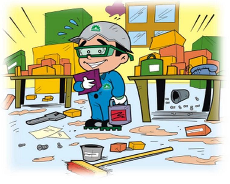 Valores E Atitudes Seguras Arrumação E Limpeza Do Local De Trabalho