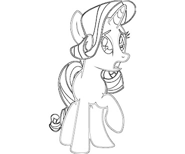 #8 Rarity Coloring Page
