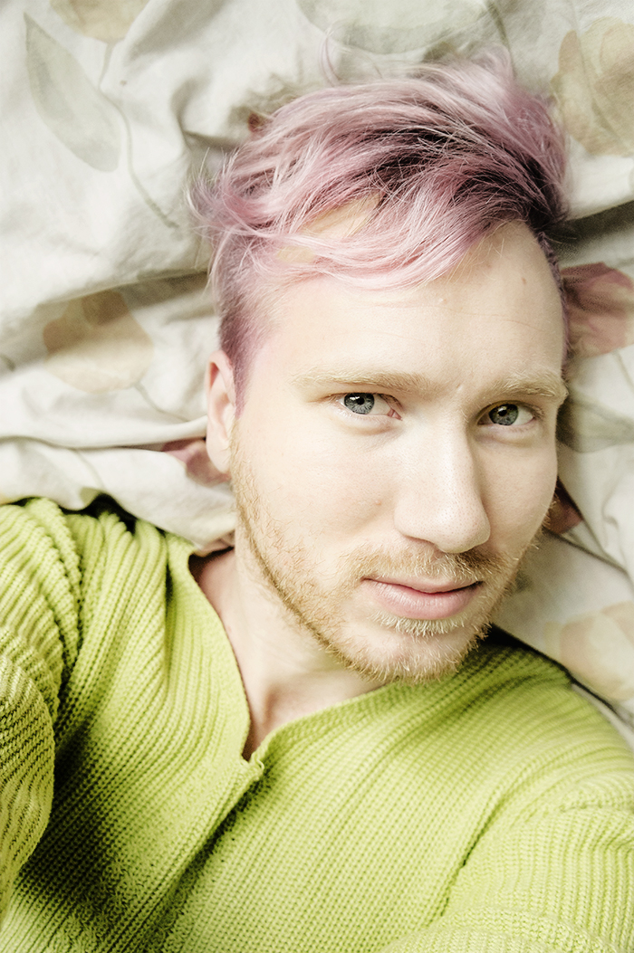 pink hair male, boy, selfshot, photography, nikon, nikonist
