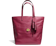 READY STOCK # Coach Purse Legacy LEATHER Turnlock Shoulder Shopper TOTE Bag 26461