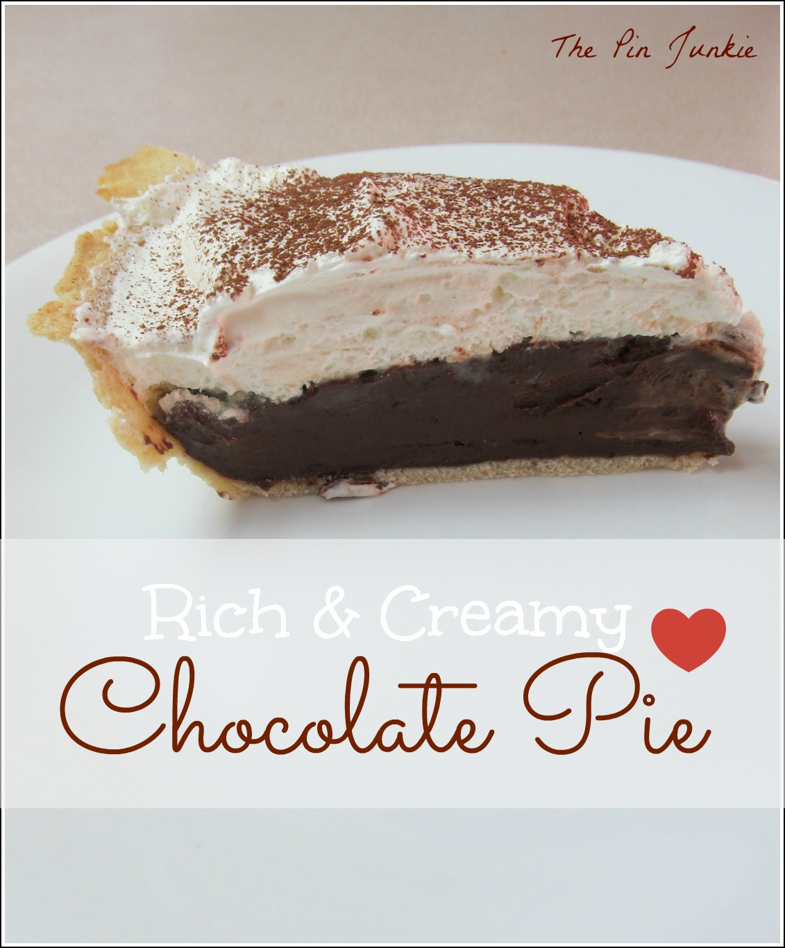 creamy chocolate pie recipe