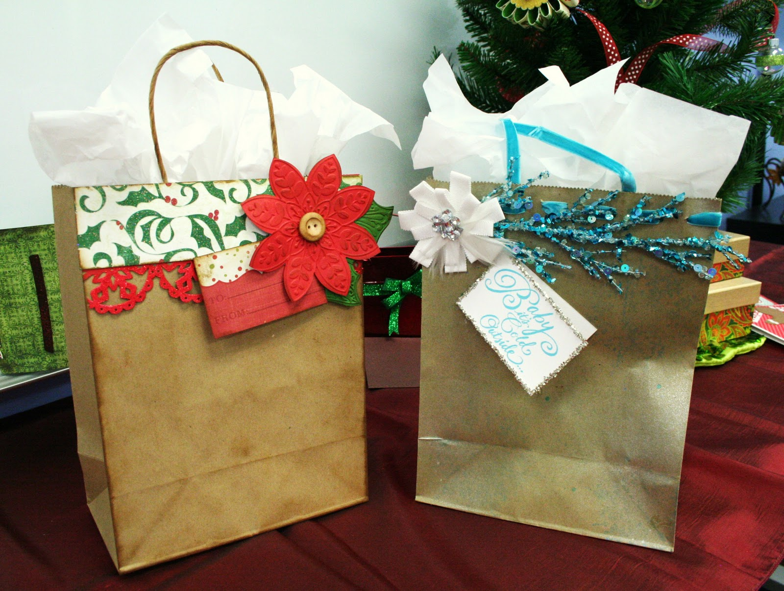 Oh my crafts day do it yourself christmas gift bags